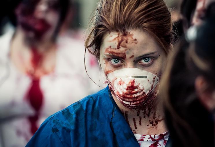 toronto zombie walk 011 Ohio simulating zombie outbreak on Halloween