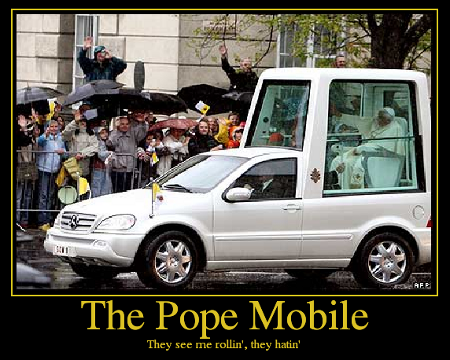 ThePopeMobile Seatbelt charges against Pope Benedict XVI dropped
