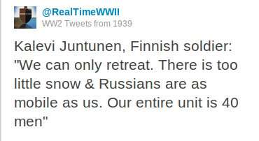 finns WWII, real time and very short