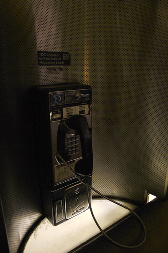 Phone booth Go low tech to die less