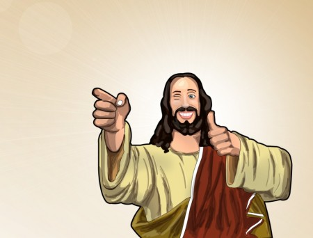 Buddy Christ by phreezer 450x342 Religious people are less motivated by compassion than non believers
