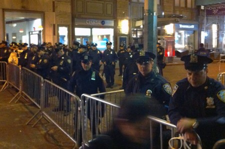 NYPDBarricades 450x299 In Second Occupy Wall Street Protest Trial, Police Claims Again Rejected