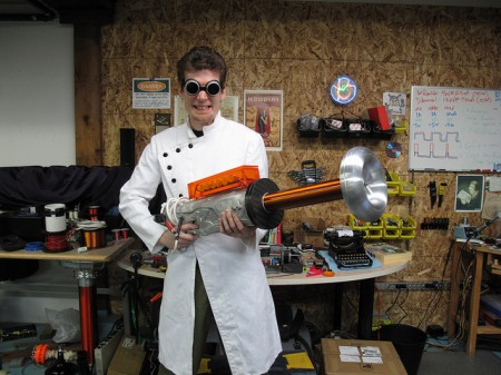Rob and his Tesla Canon 450x337 Forge yourself a real, working Tesla cannon