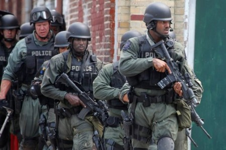 Police Militarization 450x299 Pentagon crackdown on free guns riles some police