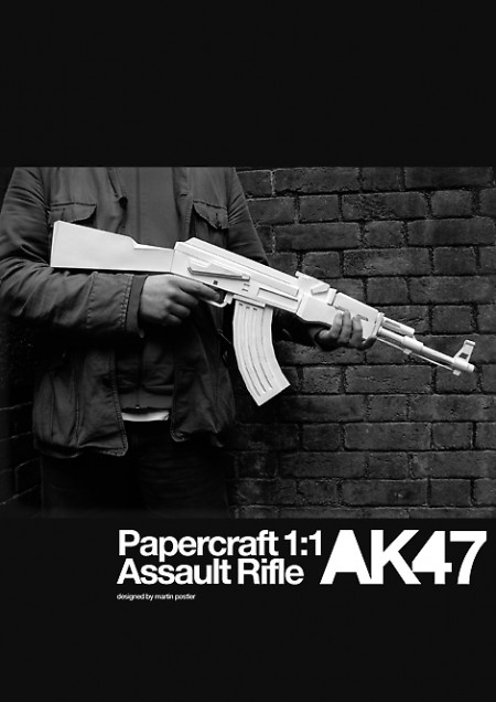 ak47 cover 450x636 Make your own glorious papercraft AK 47