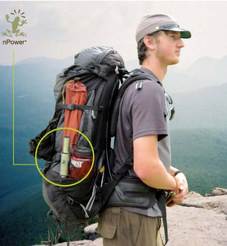 nPower PEG Carried in Backpack 450x489 Stop wasting gravity!