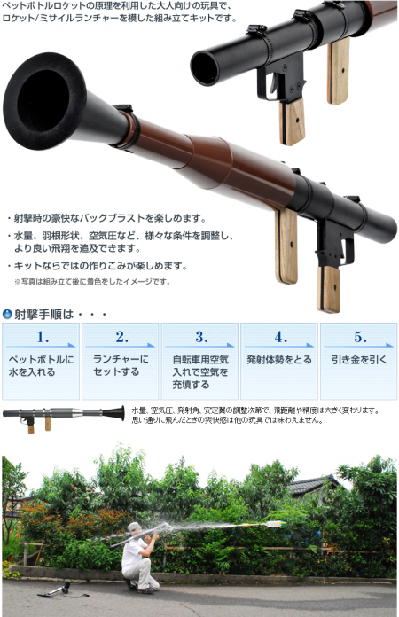 Japanese RPG 7 450x696 Tactical Japanese RPG 7 water rocket!