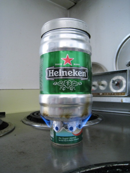 heineken alcohol stove 2 450x600 5 survival uses for high proof alcohol