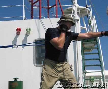 boxing punch drill with resistance phatch Staying fit (at 55) while guarding a cargo ship against Somali pirates