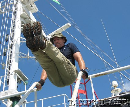 leg raises for lower abs phatch Staying fit (at 55) while guarding a cargo ship against Somali pirates