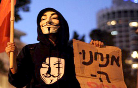 Anonymous Hacks Hundreds of Israeli Sites Unleashes Lethal Digital Attack in Response to Gaza Bombing 450x287 Anonymous hits Israel over Gaza strikes