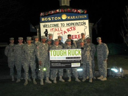 ruck3 450x337 These Soldiers Did the Boston Marathon Wearing 40 Pound Packs. Then They Helped Save Lives.